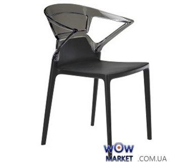 Кресло Ego-K 2358 черное сидение 09 верх прозрачно-дымчатый 38 Papatya (Турция)