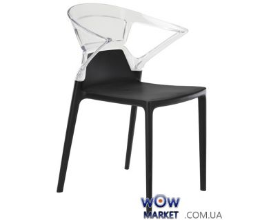 Кресло Ego-K 2359 черное сидение 09 верх прозрачно-чистый 37 Papatya (Турция)