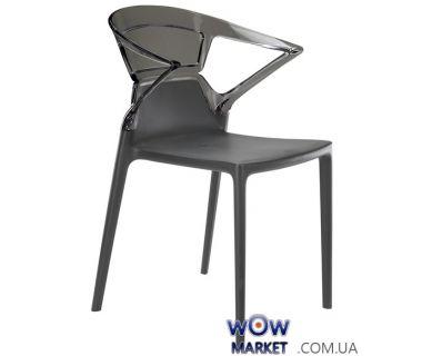 Кресло Ego-K 2361 антрацит сидение 22 верх прозрачно-дымчатый 38 Papatya (Турция)