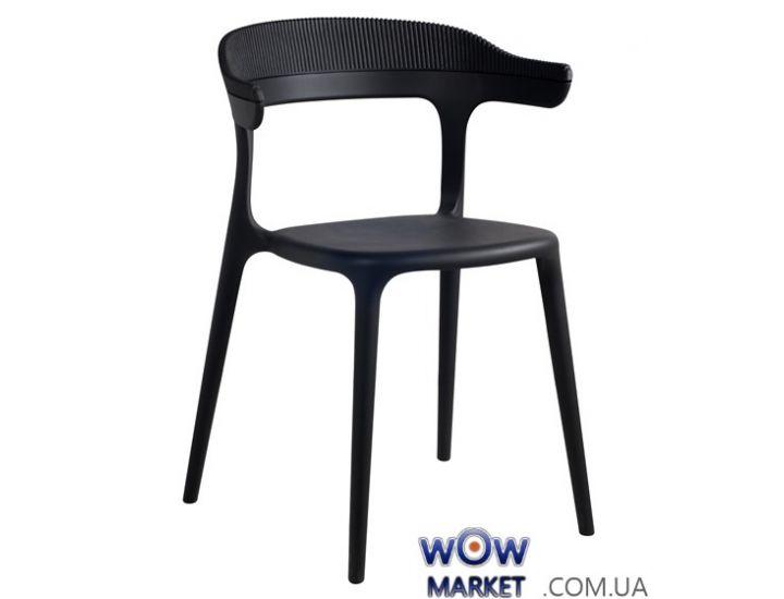 Кресло Luna-Stripe 2337 черное сидение 09 верх черный 09 Papatya (Турция)