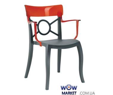 Кресло Opera-K 2341 антрацит сидение 22 верх прозрачно-красный 29 Papatya (Турция)