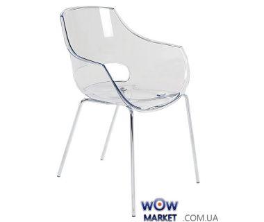 Кресло Opal 2364 ножки хром прозрачно-чистое 37 Papatya (Турция)