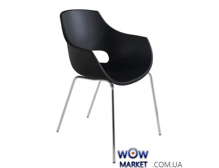 Кресло Opal 2367 матовое, ножки хром черное 09с Papatya (Турция)