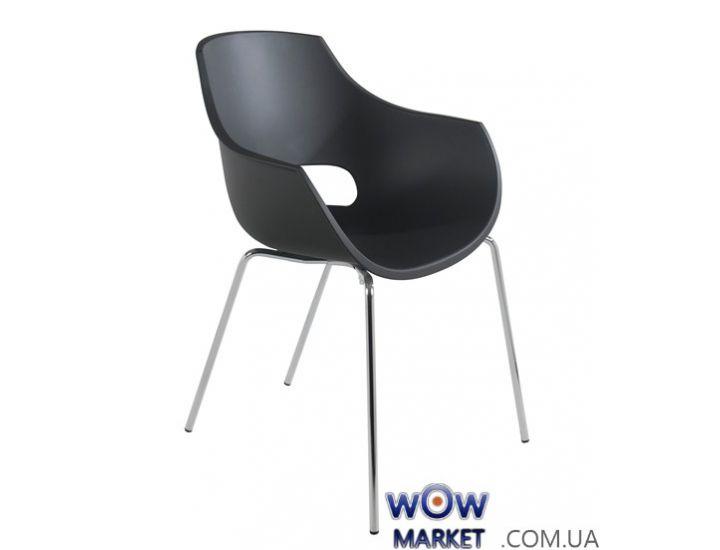 Кресло Opal 2368 матовое, ножки хром антрацит 22с Papatya (Турция)