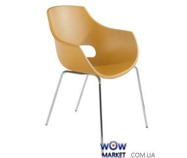Кресло Opal 2369 матовое, ножки хром желтое 52с Papatya (Турция)