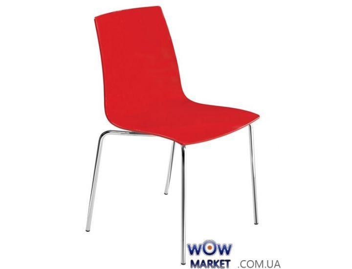 Стул X-Treme S 3066 красный 44, ножки хром Papatya (Турция)