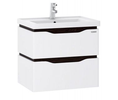 Подвесная тумба для ванной  c умывальником Канте Alessa Air 60 венге