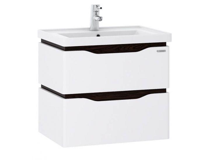 Подвесная тумба для ванной  c умывальником Канте Alessa Air 70 венге