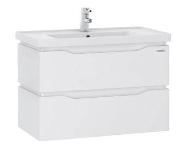 Подвесная тумба для ванной Alessa Air 60 белая c умывальником Канте