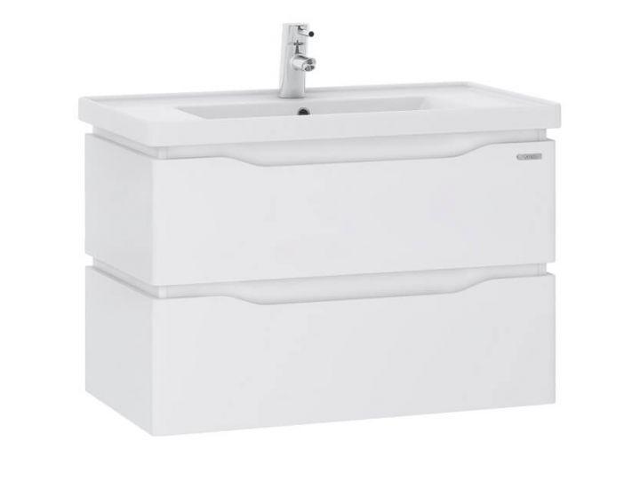 Подвесная тумба для ванной Alessa Air 70 белая c умывальником Канте