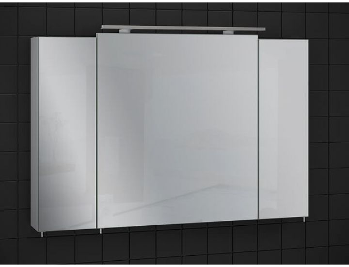 Зеркальный шкаф для ванной Everest 100 см серый, без подсветки