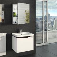 Зеркальный шкаф для ванной Everest 60 см серый, без подсветки