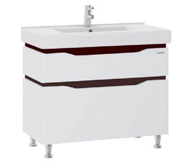 Тумба для ванной Alessa 100 венге c умывальником Принц