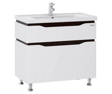 Тумба для ванной Alessa 60 венге c умывальником Канте