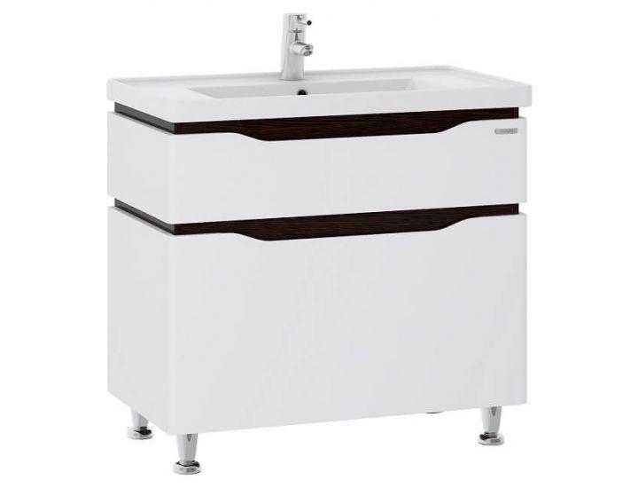 Тумба для ванной Alessa 80 венге c умывальником Канте