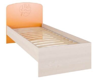 Детская кровать Маугли МДМ-11 без ламелей оранжевая