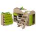 Детская кровать-чердак Маугли МДМ-2 лайм