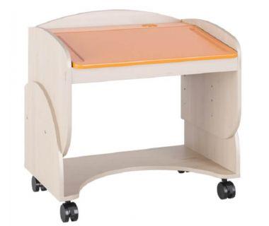 Детский столик на колесах Маугли МДМ-7 оранжевый