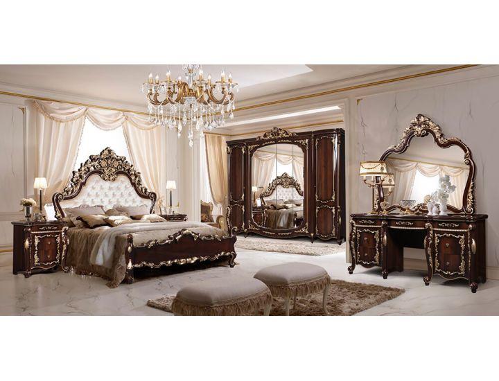 Спальня Слониммебель Афина с 6-ти дверным шкафом, орех