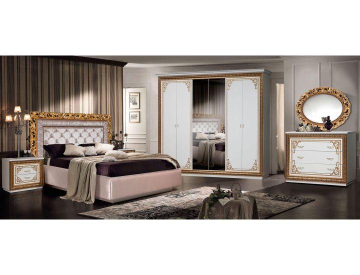 Спальня Слониммебель Ванесса с 6-ти дверным шкафом, слоновая кость