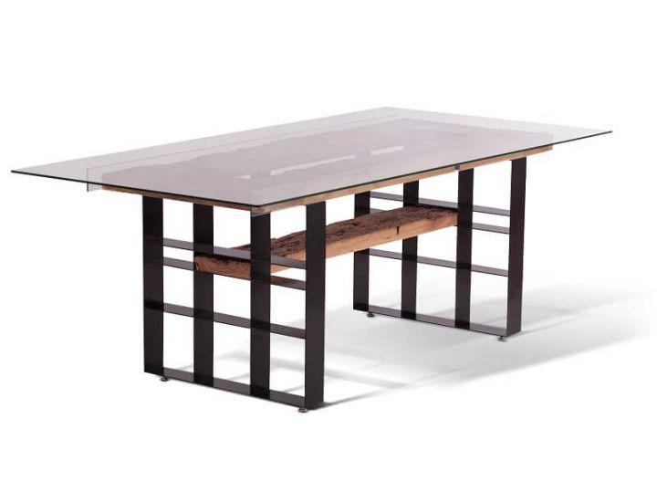 Стеклянный дизайнерский обеденный стол Grino (Грино)