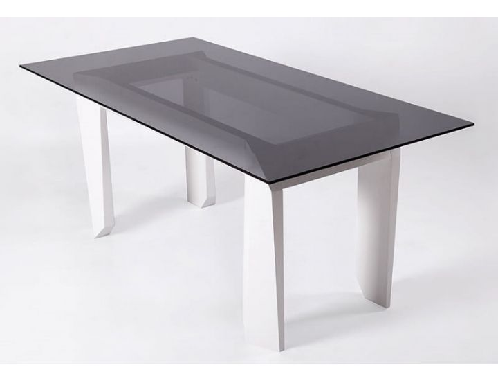 Стол дизайнерский стеклянный Orto (Орто) 160 см
