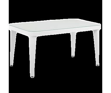 Стол Tilia Osaka 90x150 см ножки пластиковые белая слоновая кость