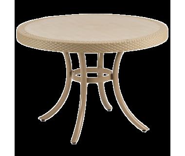 Стол Tilia Osaka d110 см ножки алюминиевые цвет кофе
