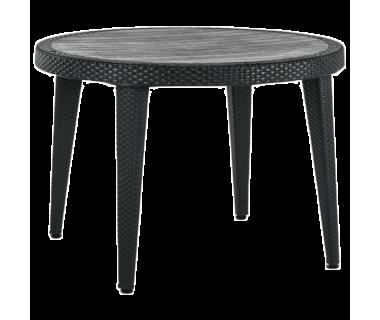 Стол Tilia Osaka d110 см ножки пластиковые черный