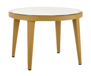 Стол Tilia Osaka d110 см столешница из стекла, ножки пластиковые цвет дерево