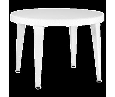 Стол Tilia Osaka d110 см ножки пластиковые белая слоновая кость
