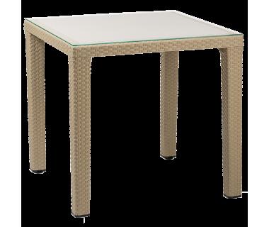 Стол Tilia Antares 80x80 см ножки пластиковые кофейный