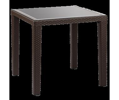 Стол Tilia Antares 80x80 см ножки пластиковые венге