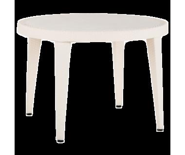 Стол Tilia Osaka d110 см ножки пластиковые кремовый