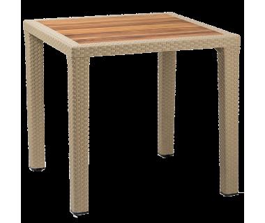 Стол Tilia Antares 80x80 см столешница ироко, ножки пластиковые кофейный