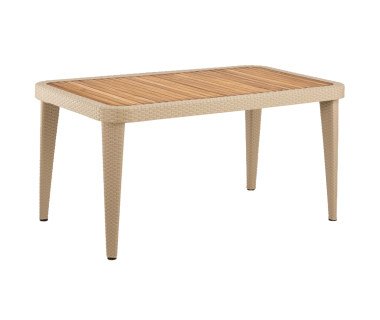 Стол Tilia Osaka 90x150 см столешница ироко, ножки пластиковые кофейный