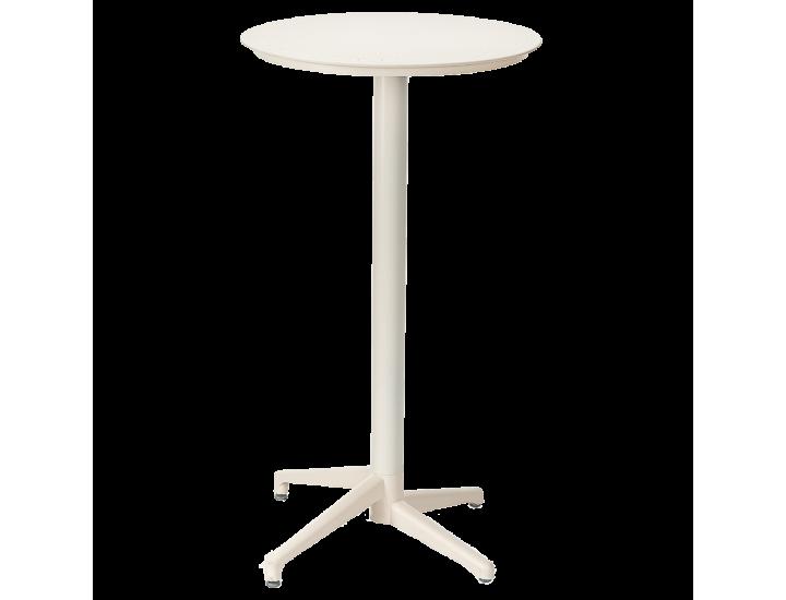 Стол барный с откидной столешницей Tilia Moon d60 см кремовый