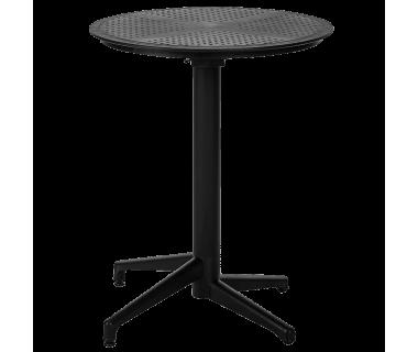 Стол с откидной столешницей Tilia Moon d60 см черный