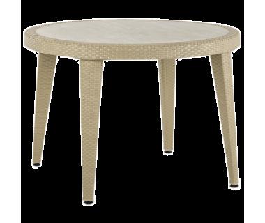 Стол Tilia Osaka d110 см ножки пластиковые цвет кофе