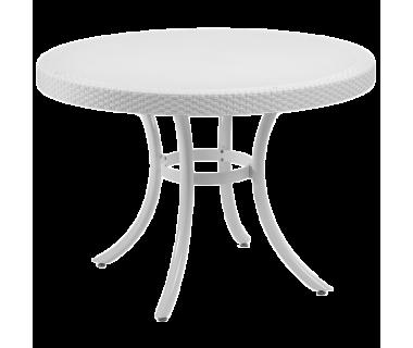 Стол Tilia Osaka d110 см ножки алюминиевые белая слоновая кость