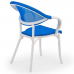 Кресло Tilia Flash-N белая слоновая кость - синий