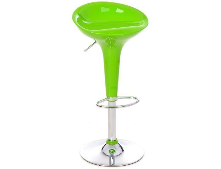 Стул барный пластиковый подъемный B-01 зеленый