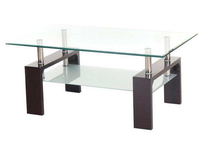 Стеклянный журнальный стол C-107-2 венге