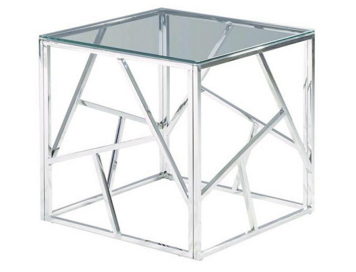 Стеклянный журнальный стол CF-2 прозрачный
