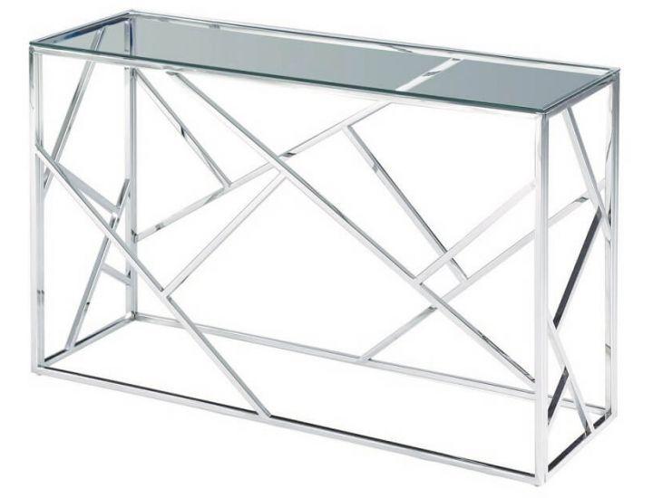 Стеклянный стол консоль CF-3 прозрачный
