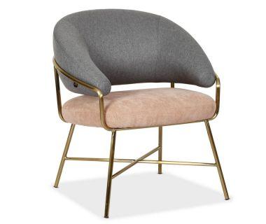 Кресло Адель серый с розовым VETRO (Ветро)