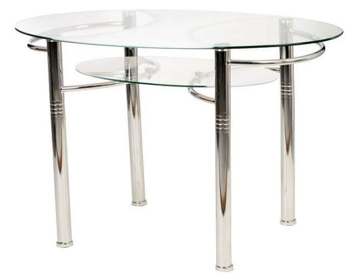 Стол стеклянный обеденный T-211 белый 120*70*75см