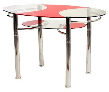 Стол обеденный T-211 красный 120*70*75см