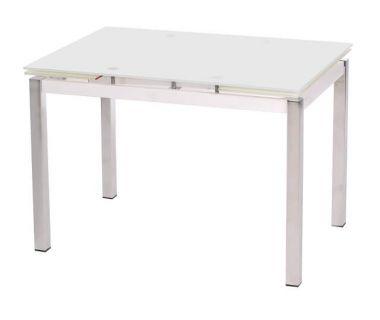 Стол раскладной обеденный T-231 белый 110 (+60)*74*75см