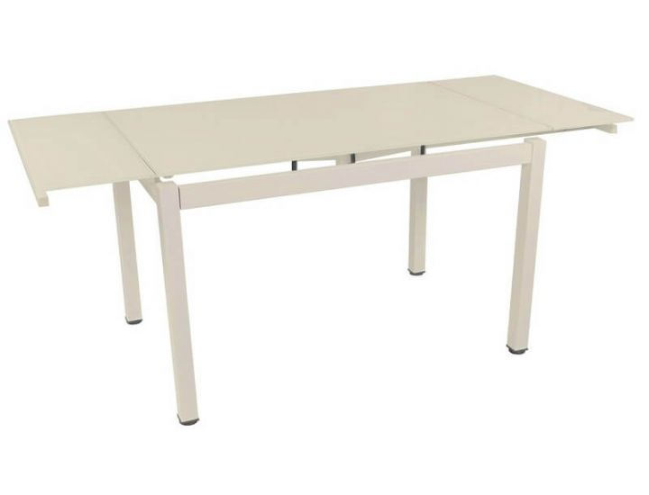 Стол стеклянный обеденный T-231-3 кремовый 120 (+60)*80*75 см